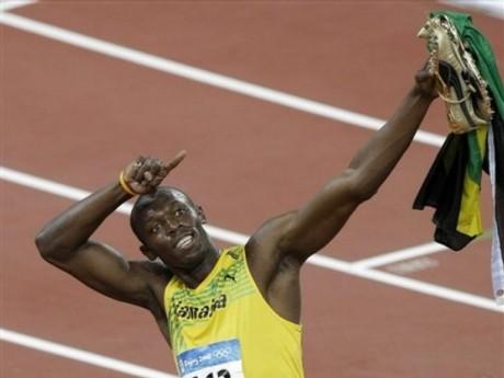 Usain Bolt mostra a direção